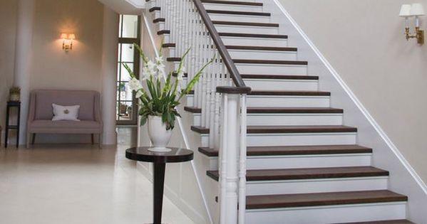 Peindre escalier bois moderne escaliers pinterest for Peindre son escalier en bois