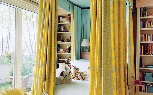 Glamour Girl Bedrooms - don't like the color palette (yellow) but love