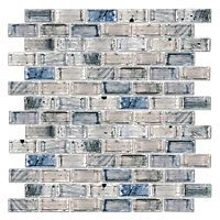 Cool Elegance Brick Glass Mosaic Tile 12 X 12 In 17 99 Sq Ft Coverage 9 80 Sq Ft Per Box Glass Mosaic Tiles Mosaic Glass The Tile Shop
