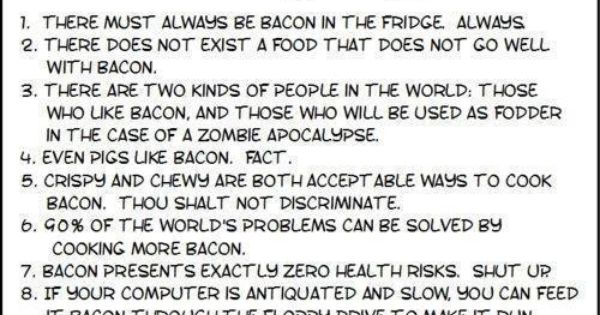 The Rules Of Bacon | FOOD! | Pinterest | The Rules, Bacon and Html