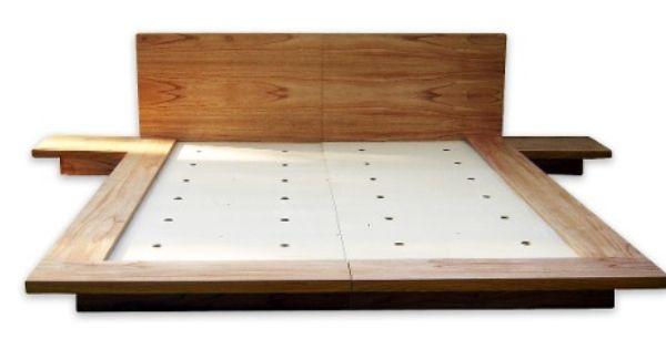Cama japonesa oriental tatami en para so laqueado - Tatami cama japonesa ...