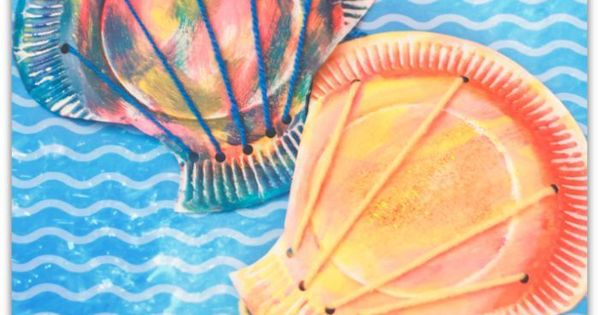 Paper Plate Seashell Craft For Preschoolers Crafts