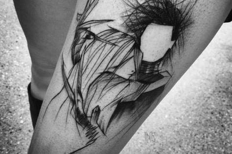 40 fascinating sketch style tattoo designs edward scissorhands sketches and tattoo. Black Bedroom Furniture Sets. Home Design Ideas