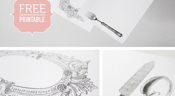 Free printable vintage paper place mats! They're so lovely. Will use at