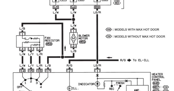 wiring diagram for nissan almera window switch