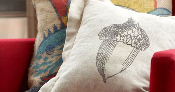 Illustrated Acorn Pillow Pattern - BHG.com