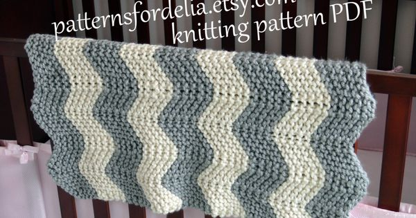 Easy Zig Zag Knitting Pattern : Chunky chevron baby blanket knitting pattern easy beginner