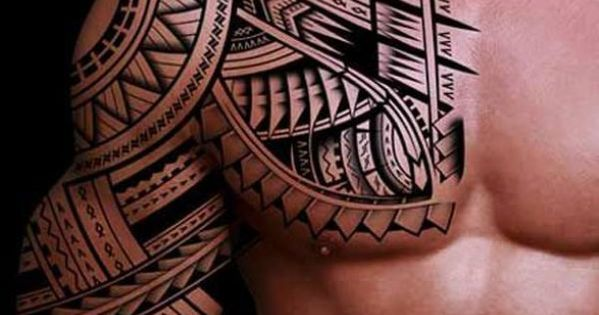 maori motiv t towiert arm und brust all1 pinterest tattoo maori and maori tattoos. Black Bedroom Furniture Sets. Home Design Ideas