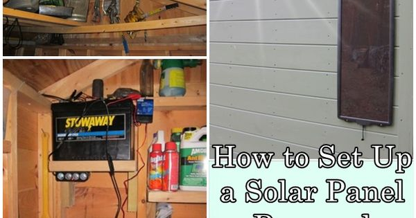 How To Set Up A Solar Panel Powered Homesteading Shed