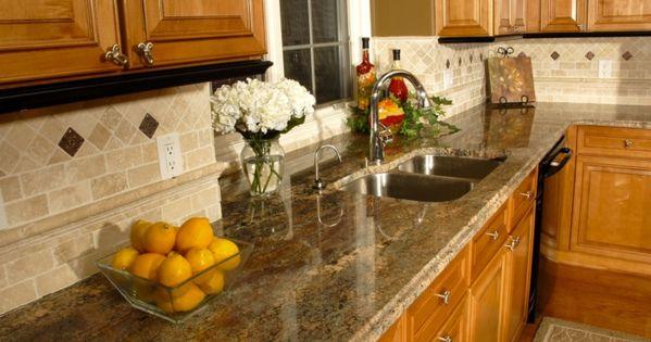 Golden Persa Granite Kitchen Backsplash Google Search Kitchen Interior Granite Kitchen Granite Countertops Kitchen