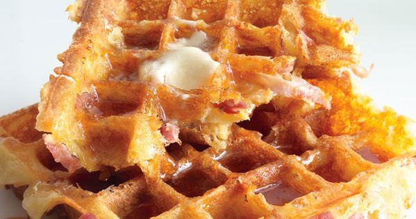 Ham and cheese waffles. Yes please. (from bon appetit, March 2012)