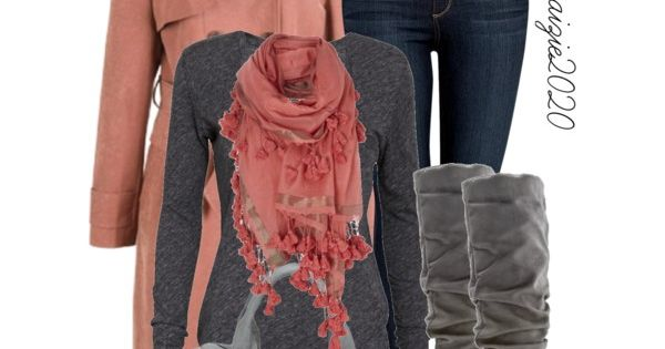 Winter Outfit Ideas - t-shirts, coats, skinny jeans, boots, handbags, scarves