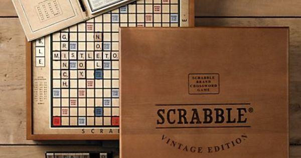Vintage Edition Scrabble Board Game