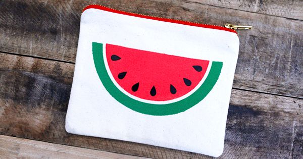 DIY Easy Watermelon Slice Pouch free stencil | Free ...