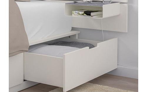 Nordli Bed Frame W Storage And Headboard White Ikea Headboards For Beds Bed Frame With Storage Ikea Nordli