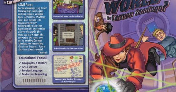 Where In The World Is Carmen Sandiego Old Version Carmen Sandiego San Diego Carmen