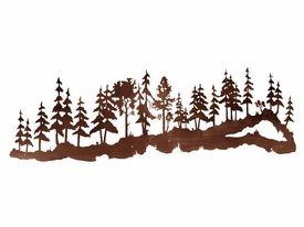 84 Large Pine Tree Forest Metal Wall Art Metal Tree Wall Art Metal Tree Metal Wall Art