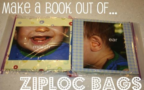 Ziploc book. Great idea!