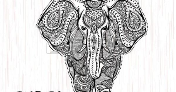 vector vintage illustration l phant indien banque d 39 images dessins pinterest vintage. Black Bedroom Furniture Sets. Home Design Ideas