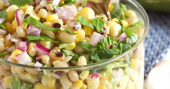 Black-Eyed Pea and Corn Salad with Spinach | Recipe | See ...