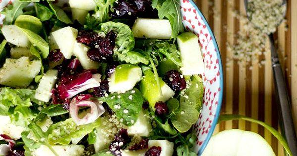 Hulled Hemp Seed Salad w/ Apple Dressing | Recipe | Posts, Hemp seeds ...