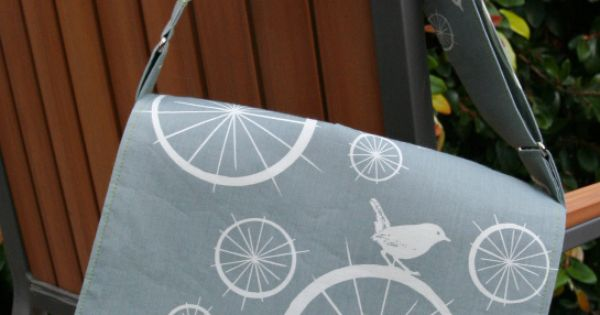 bike bird messenger bag And a great blog for sewing tutorials that