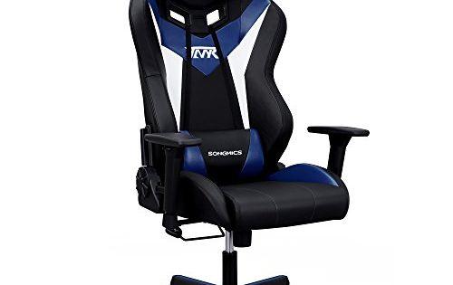 Songmics Fauteuil Gamer Chaise Gaming Fauteuil De Bureau A Dossier Haut Design Innove Materiaux De Luxe Avec Appui Tete Et Cous Racing Chair Chair Office Chair