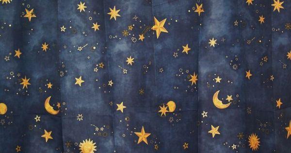 Sun Moon Stars Shower Curtain Celestial Shower Curtain