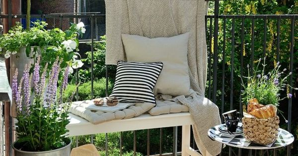 kleinen balkon gestalten kleine wohnung einrichten. Black Bedroom Furniture Sets. Home Design Ideas