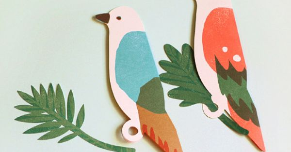 Postman Bird - CARD SET von Nothing Elegant auf DaWanda.com