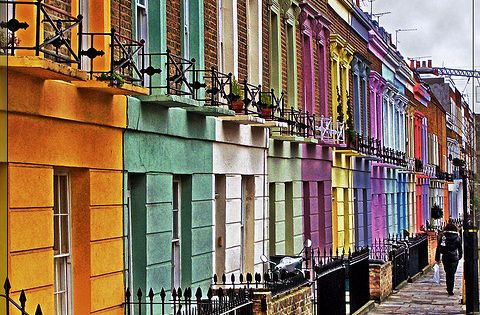 Camden Town, UK. I'd love to live in a pretty row of