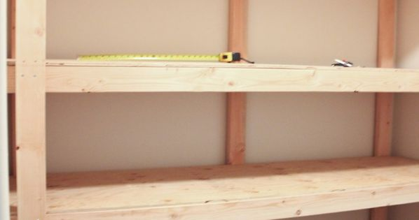Look at how simple these diy storage shelves are to make! They