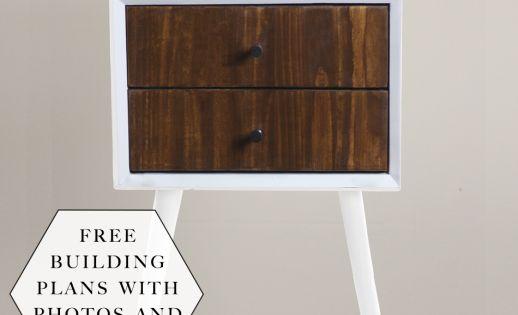 Build a DIY Midcentury 2 Drawer Nightstand - Building ...