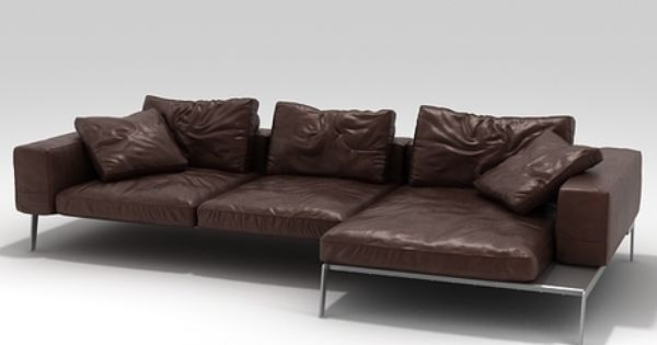 Lifesteel Sofa 02 3d Model By Design Connected Leather Sofa Leather Sectional Sofas Flexform Sofa