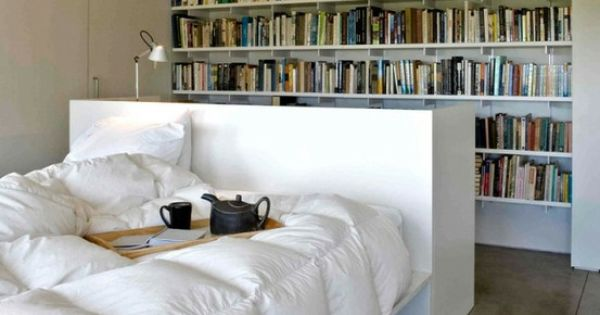 Book lover 39 s bedroom and study table beds rooms for Bedroom ideas for book lovers