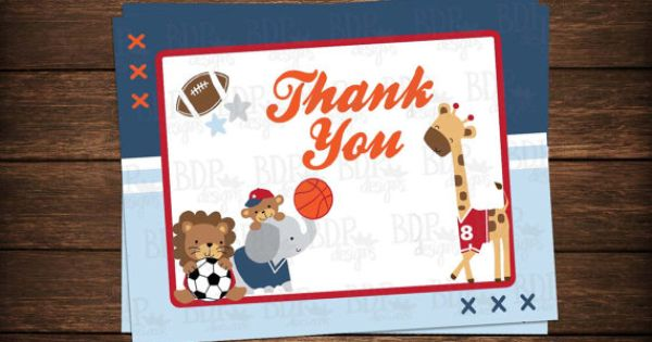 These Adorable Thank You Cards Were Created To Match The