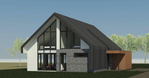 Nieuwbouw schuurwoning in ermelo ontwerp voor een nieuw te bouwen schuurwoning in ermelo - Entree eigentijds huis ...