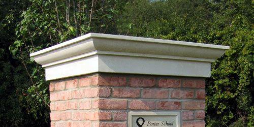 Tri Stone Pier Caps Finials Brick Columns Concrete Retaining Walls Front Gate Design