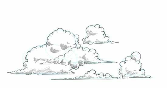 How To Draw Clouds Step By Step Cloud Drawing Drawings Cartoon Clouds
