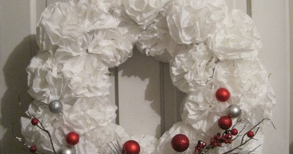 Christmas coffee filter wreath | Heather's Creations ...