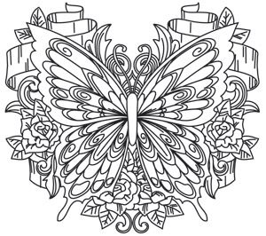 Fly Away With Me Butterfly Coloring Page Coloring Pages