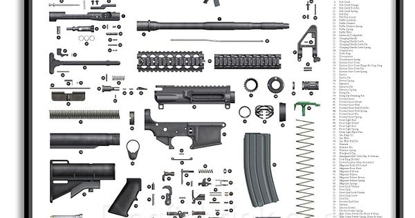 ar 15 exploded parts diagram brought to you by sportsman. Black Bedroom Furniture Sets. Home Design Ideas