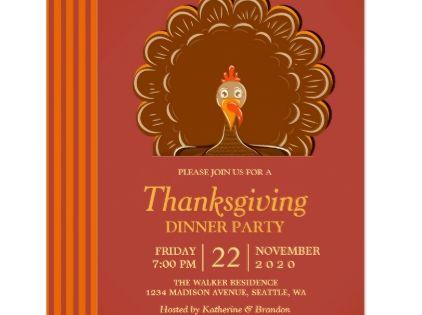 Turkey Thanksgiving Dinner Party Invitation Thanksgiving Invitations Holiday Cyo Diy Hap Dinner Party Invitations Thanksgiving Dinner Party Party Invitations
