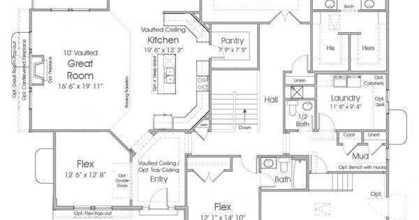 Paisley utah rambler floor plan edge homes wish list for Rambler house plans utah