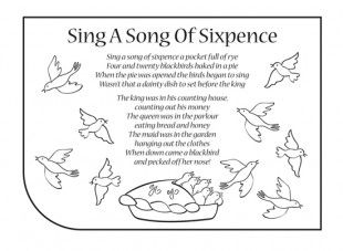 Sing A Song Of Sixpence Free Worksheets View And Print The Sing