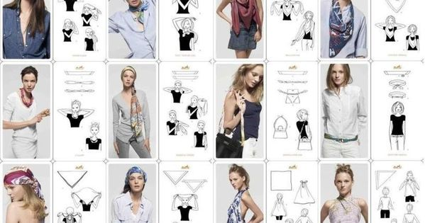 Diff rentes fa ons de porter un foulard blog - Differentes facons de porter un foulard ...