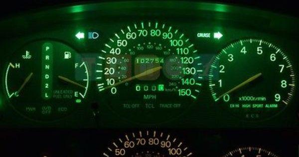 Led Kit Gauge Cluster Super Green Lights Bulbs For 1999 2001 Jeep