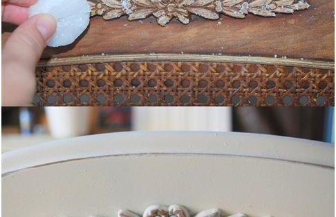 vintage look m bel selber machen kerzenwachs ornamente. Black Bedroom Furniture Sets. Home Design Ideas