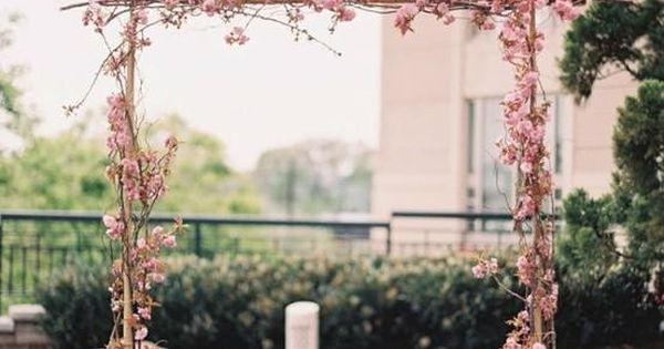 2014 scrumptious cherry blossom wedding arch, pastel pink ...