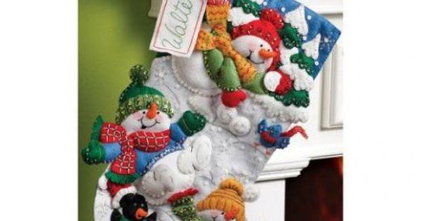 Applique Christmas Stocking